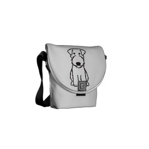 Kerry Blue Terrier Dog Cartoon Courier Bags
