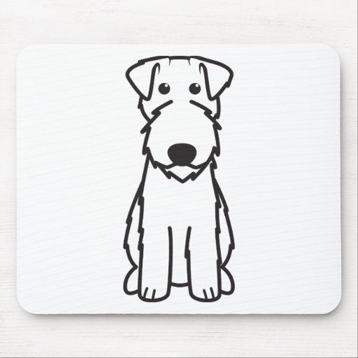 Kerry Blue Terrier Dog Cartoon Mousepad