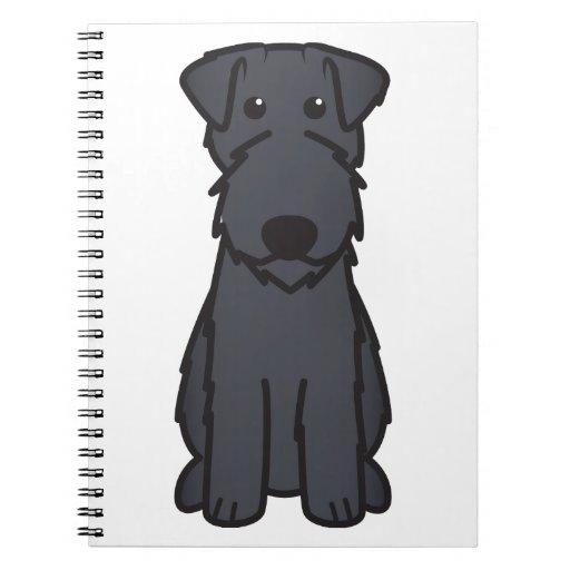 Kerry Blue Terrier Dog Cartoon Spiral Note Book