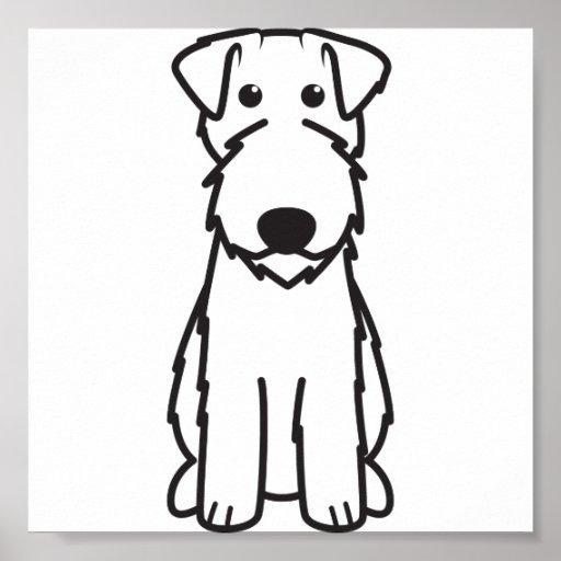 Kerry Blue Terrier Dog Cartoon Print