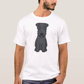 Kerry Blue Terrier Dog Cartoon T-Shirt