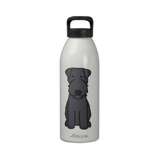 Kerry Blue Terrier Dog Cartoon Drinking Bottles