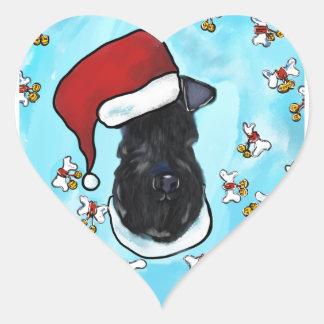 Kerry Blue Terrier Heart Sticker