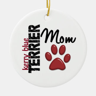 Kerry Blue Terrier Mom 2 Double-Sided Ceramic Round Christmas Ornament