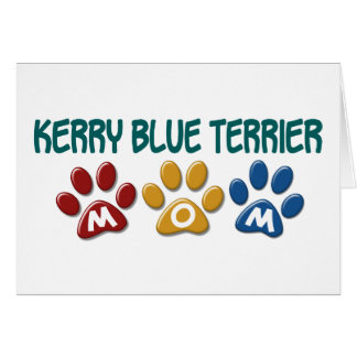 KERRY BLUE TERRIER Mom Paw Print 1 Greeting Card