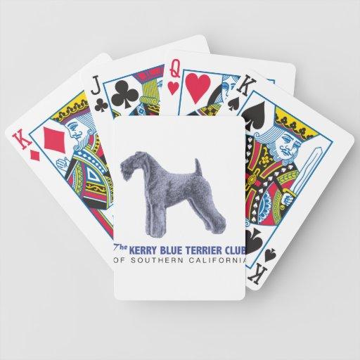 Kerry Blue Terrier Poker Deck