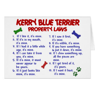KERRY BLUE TERRIER Property Laws 2 Greeting Card