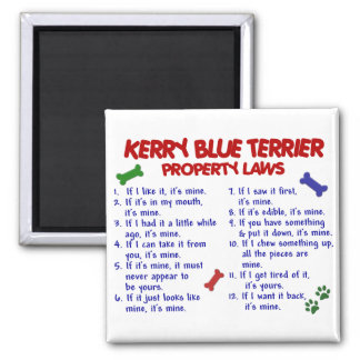 KERRY BLUE TERRIER Property Laws 2 Square Magnet