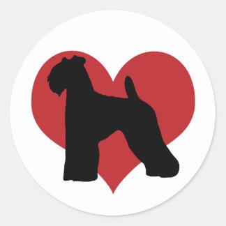 Kerry Blue Terrier Round Sticker