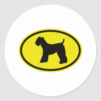 Kerry Blue Terrier Round Sticker