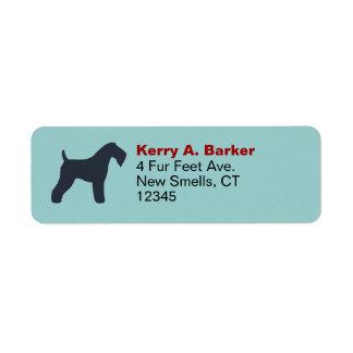 Kerry Blue Terrier Silhouette