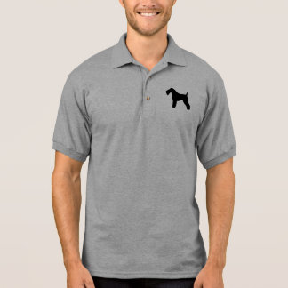 Kerry Blue Terrier Silhouette Polo