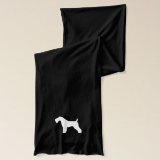 Kerry Blue Terrier Silhouette Scarf