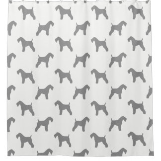 Kerry Blue Terrier Silhouettes Pattern