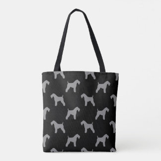 Kerry Blue Terrier Silhouettes Pattern Tote Bag