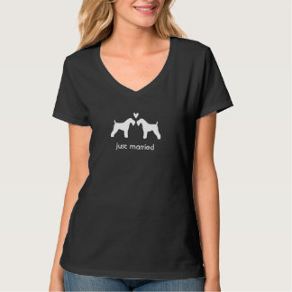 Kerry Blue Terriers Couple with Custom Text Tees