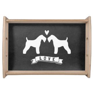 Kerry Blue Terriers Love Food Trays