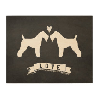Kerry Blue Terriers Love Wood Canvases