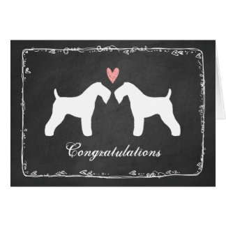 Kerry Blue Terriers Wedding Congratulations Greeting Card