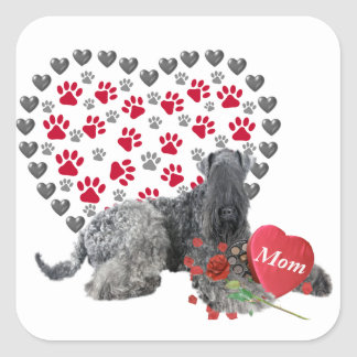 Kerry Blue Valentine For Mom Square Sticker