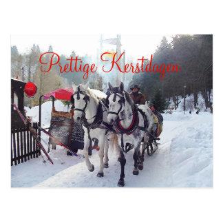 Kerstkaart Prettige Kerstdagen Postcard