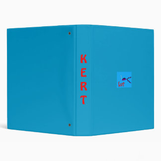 Kert the fish 3 ring binder