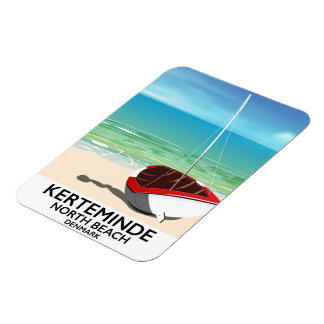 Kerteminde North Beach Denmark Travel poster Magnet