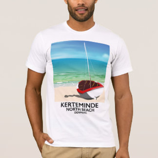 Kerteminde North Beach Denmark Travel poster T-Shirt
