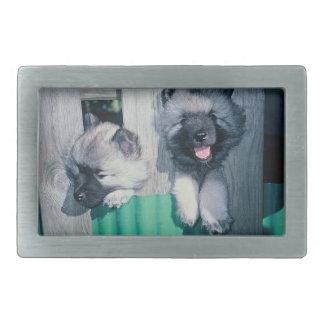 kesshond pups rectangular belt buckles