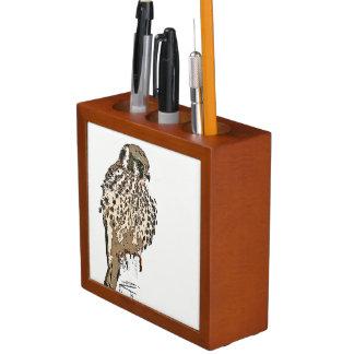 Kestral Falcon Bird Wildlife Animal Desk Organizer