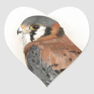 Kestrel Heart Sticker