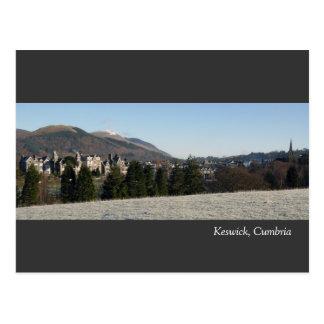 Keswick in Cumbria Postcard