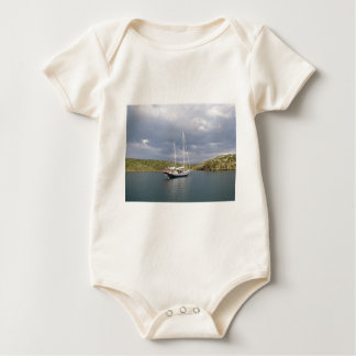 Ketch At Anchor Baby Bodysuit