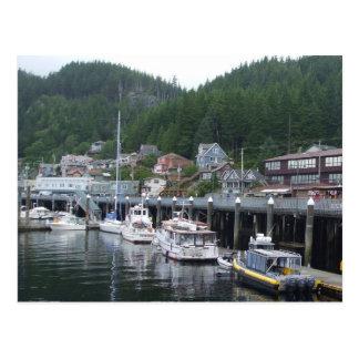 Ketchikan Alaska Boat Dock Postcard