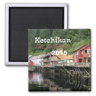 Ketchikan Alaska Travel Fridge Magnet Change Year