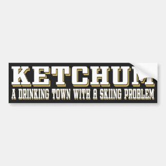 Ketchum Drinking & Skiing Bumper Sticker