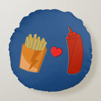 Ketchup and Fries Pillow - Funny Foodie Gift