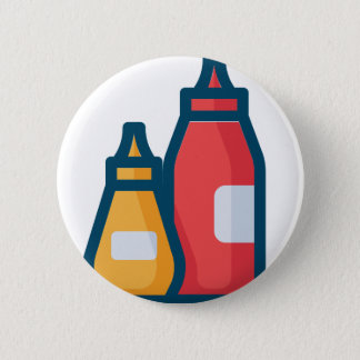 Ketchup and Mustard 2 Inch Round Button