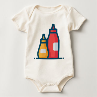 Ketchup and Mustard Baby Bodysuit