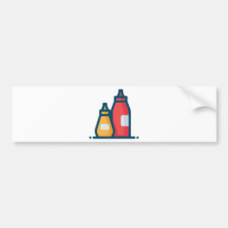 Ketchup and Mustard Bumper Sticker