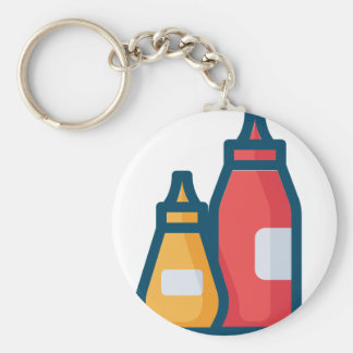 Ketchup and Mustard Keychain
