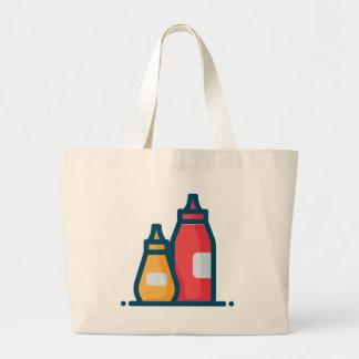 Ketchup and Mustard Large Tote Bag
