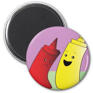 Ketchup and Mustard Magnet