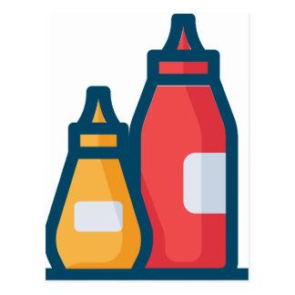 Ketchup and Mustard Postcard