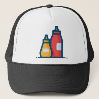 Ketchup and Mustard Trucker Hat
