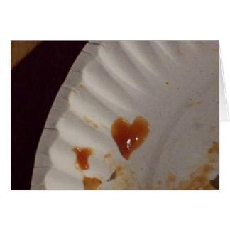 Ketchup Heart Card