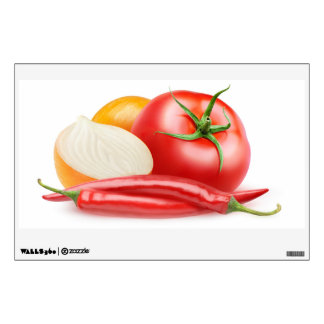 Ketchup ingredients wall sticker