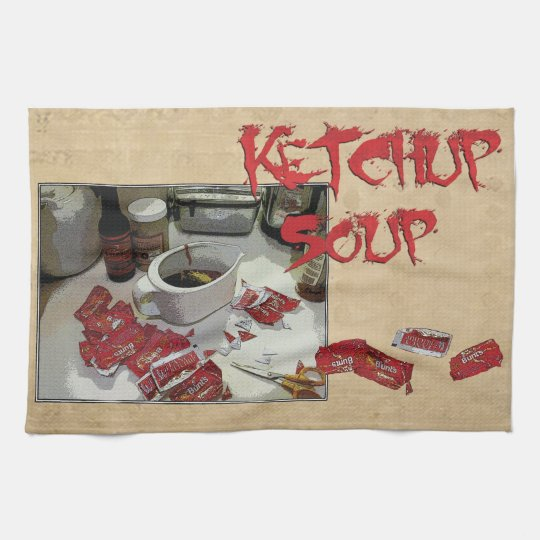 """Ketchup Soup"" dishtowel Kitchen Towel"