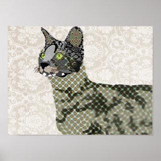 Keto Savannah Cat Art Poster