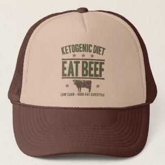 KETOGENIC DIET: Eat Beef - High Fat Life, Camo Cow Trucker Hat